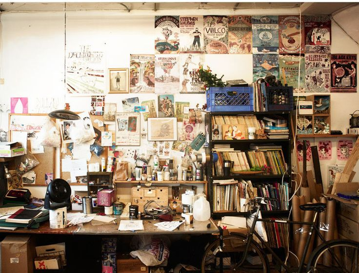 Studio - Grady McFerrin - filled with inspiration and supplies - www.gmillustration.com