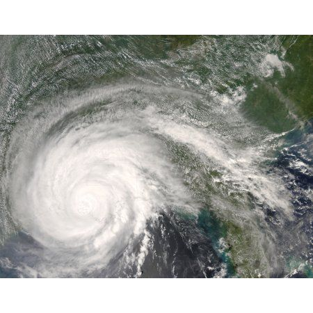 Hurricane Gustav over Louisiana Canvas Art - Stocktrek Images (32 x 25)