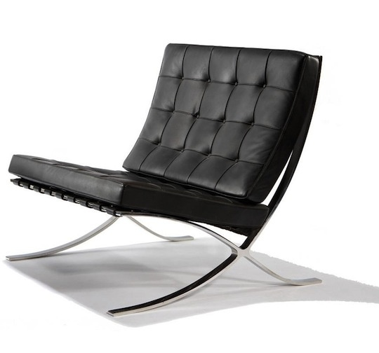 Barcelona chair.- Mies ...and to think... I had the chance to buy these in purple. file under missed opportunity.