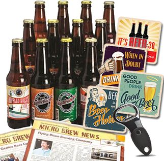 Craft Beer Club 12 beers delivered monthly, beer of the month club, beer subscription, beer gifts for men