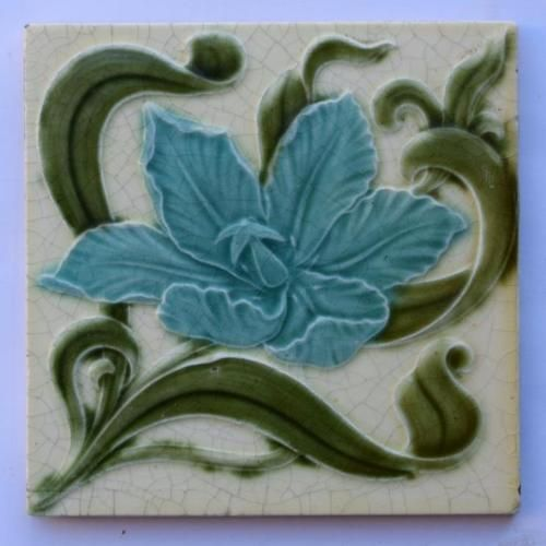Antique-Art-Nouveau-Tile-by-H-Richards-c1905