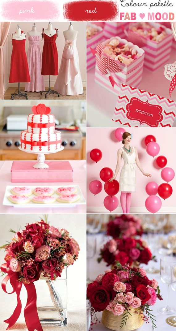 Pink Amp Red Wedding Colour Mood Board Wedding Plan Your