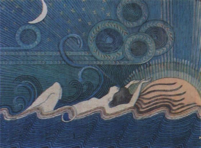 Ilmatar o Luonnotar, es una diosa (diosa hacedora) creadora finesa llamada la Hija del Aire, emergiendo de este elemento. Según el contexto proverbial del mito del pueblo finlandés, en un comienzo existió, sólo Ilmatar en un gigantesco abismo marino, vacío. Allí ella se dedica sólo a observar y contar los arco iris y a permitir que el viento acaricie su pelo.  (EL RESTO DE LA HISTORIA OCUPA MUCHO ESPACIO, SORRY)