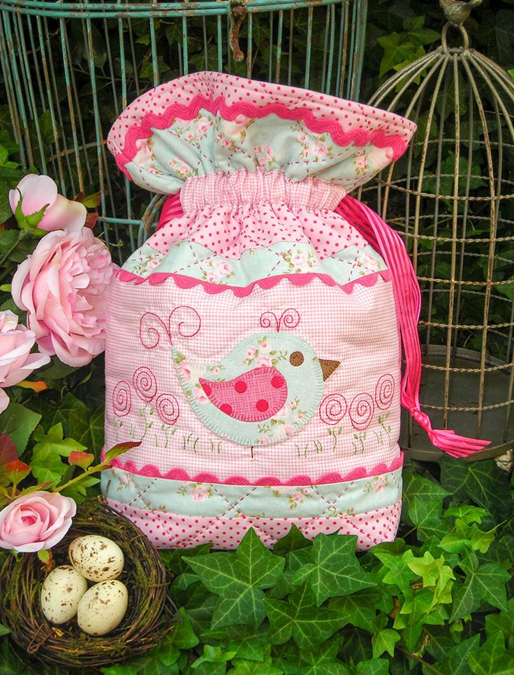 """""""Miss Bossy Boots"""" by Sally Giblin of The Rivendale Collection.  Finished bag size: 12"""" x 15"""". #TheRivendaleCollection stitchery, appliqué and patchwork patterns. www.therivendalecollection.com.au"""
