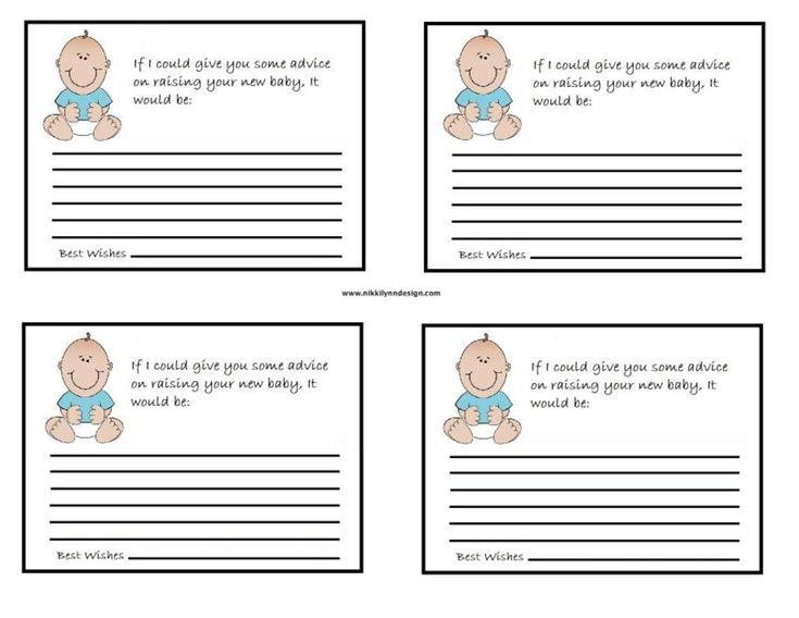 Baby Showers Uk Tips ~ Free baby advice cards template entertaining pinterest