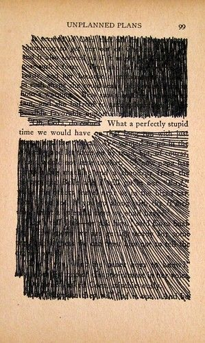 take a page from an old book and find a sentence you like mark out - Book Pages Art