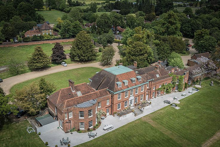 #Ariel #drone #location #architecture #photography at RGB Digital Ltd, London. #stokeplace #hotel #mansion #greengrounds