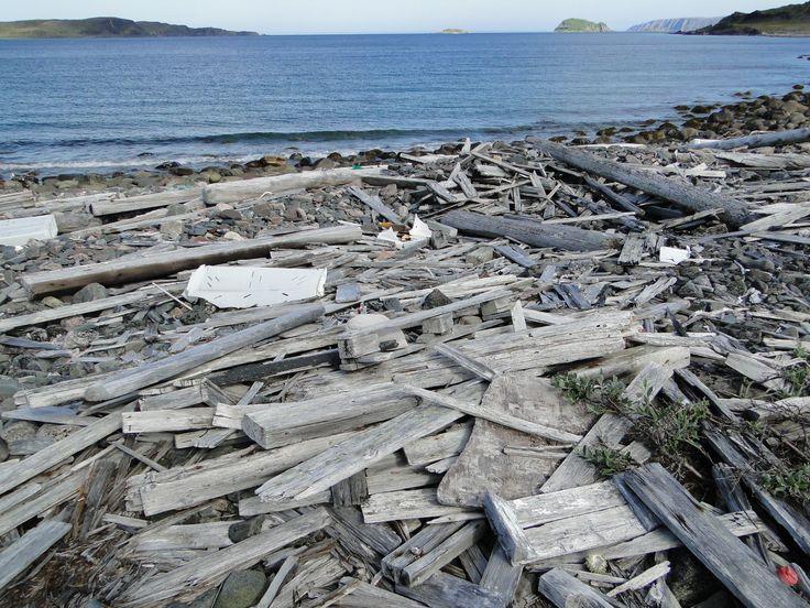 Rakennusmateriaalia löytyy rannoilta...