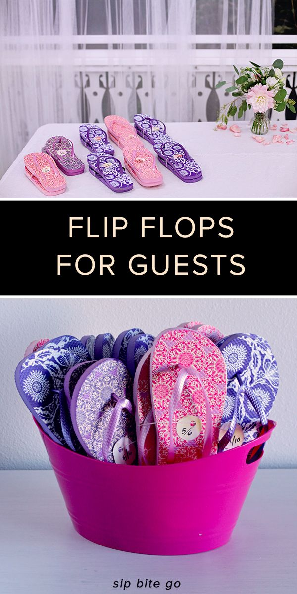 Practical wedding favors guests will love! Bulk wedding flip flops for guest favors come with rhinestones for bling bling bridal parties and bamboo for beach wedding themes.