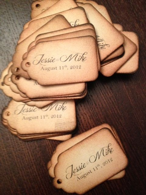 Custom Tags for vintage, shabby chic gifts, weddings, place cards, birthdays, or other occasions on Etsy, $0.85