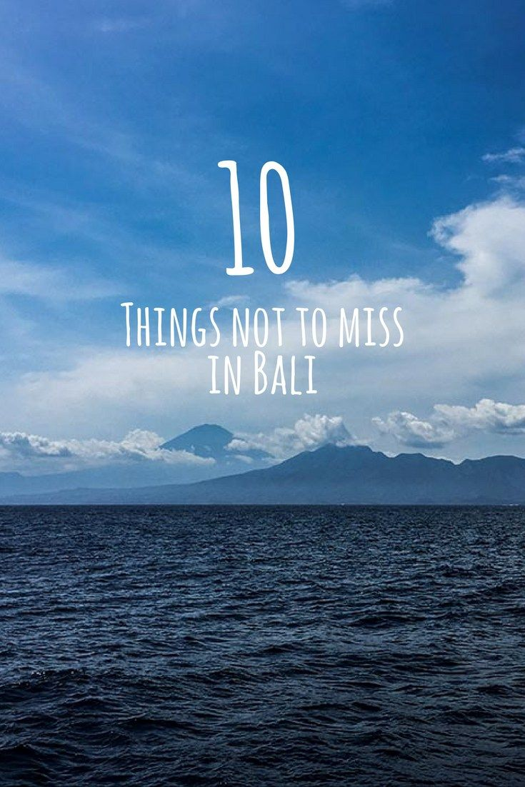 Yes, another list of things to do in Bali - some things are really not to be missed whether you are here for the first or tenth time!