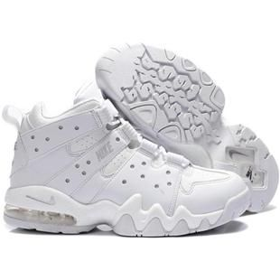 Nike Air Max2 CB 94 Charles Barkley Shoes All White Sport