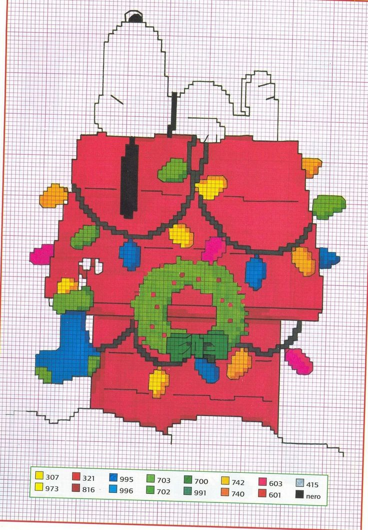 Charlie Brown counted cross stitch