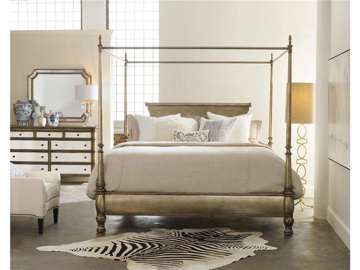 Hooker Furniture Bedroom Montage Queen Canopy 638-90954 - Stacy Furniture - Grapevine, Allen, Plano, TX