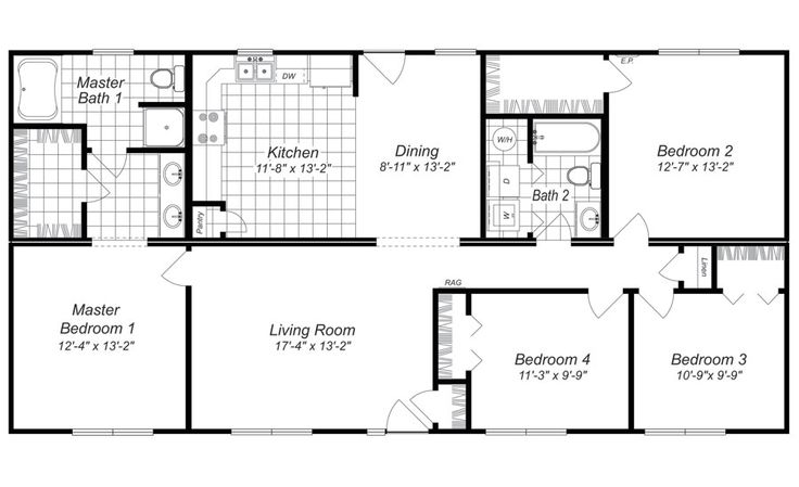Exceptional Modern Design 4 Bedroom House Floor Plans FOUR BEDROOM HOME PLANS House  Plans U0026 Home Designs | Dream House | Pinterest | Bedroom Office, Dining And  Bedrooms