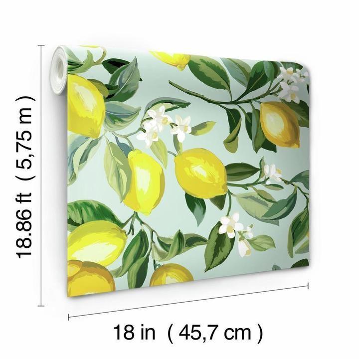 Lemon Zest Peel And Stick Wallpaper In 2020 Peel And Stick Wallpaper Jungle Wallpaper Wall Decor Decals