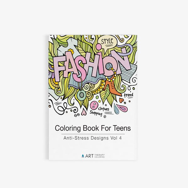 coloring book for teens anti stress designs vol 4 art therapy coloring - Coloring Books For Teens