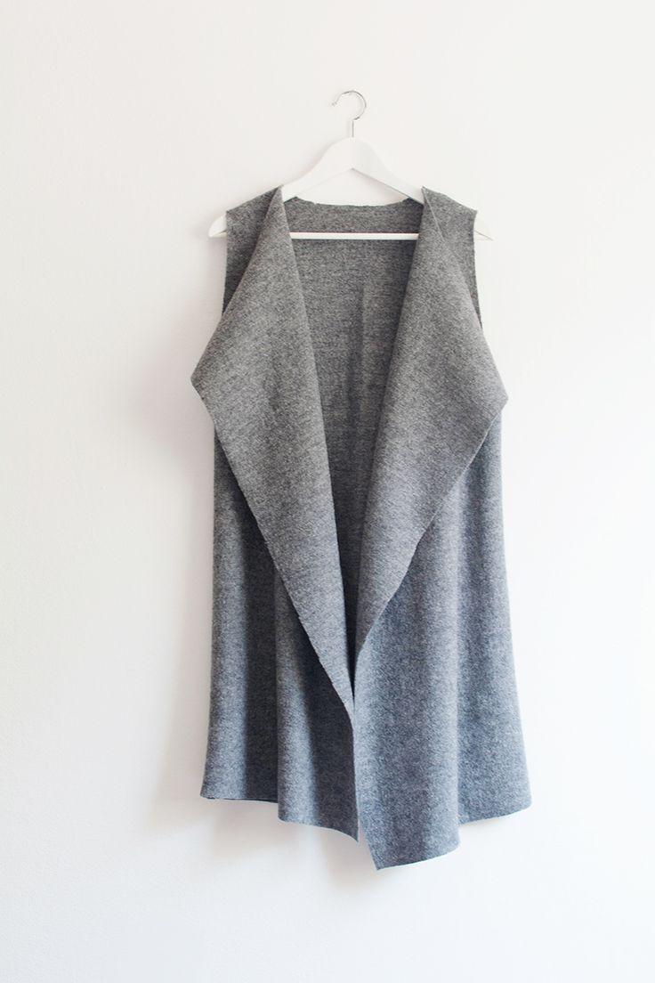 DIY Sleeve less Coat
