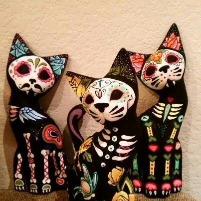 Cause why does it have to be a human skull? cat calaveras!