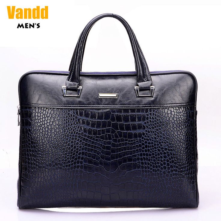 Aliexpress.com : Buy Vend Men's Fashion Crocodile Embossing Zipper PU Leather Blue Tote Handbag Briefcase Shoulder Messenger Bag New Designer Style from Reliable eyebrow piercing shop suppliers on Vandd Men. $88.00