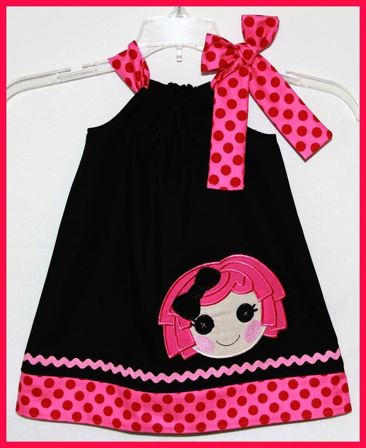 Super Cute La La Loopsy Crumbs Sugar Cookie Doll  applique Dress. $25.00, via Etsy.