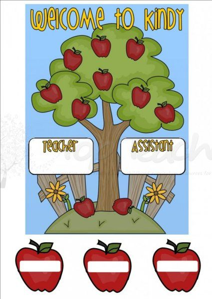 Apple Tree Classroom Ideas ~ Apple tree welcome sign different versions top