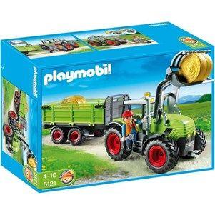 PLAYMOBIL 5121 Grand Tracteur avec Remorque - Achat / Vente univers miniature PLAYMOBIL 5121 Grand Tracteur - Cdiscount