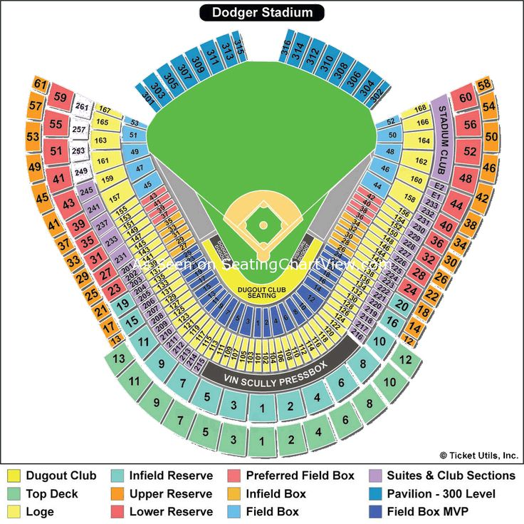 Elysian Park Map | Dodger Stadium Baseball Seating Chart 150x150 Dodger Stadium, Los ...