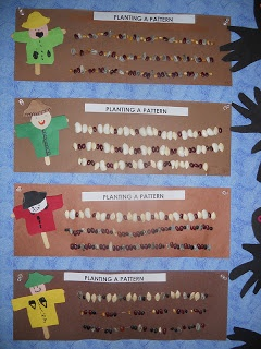 Scarecrow Fun and Turkey Time! Great seed graphing idea but can use idea for any planting activity in the classroom.