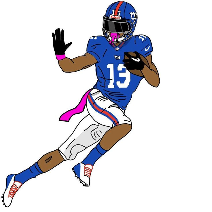 Odell Beckham Jr. best player ever. See the  @dkondo.obj version of him #odell #football #nygiants #newyork #drawing #art #obj #odellbeckhamjr