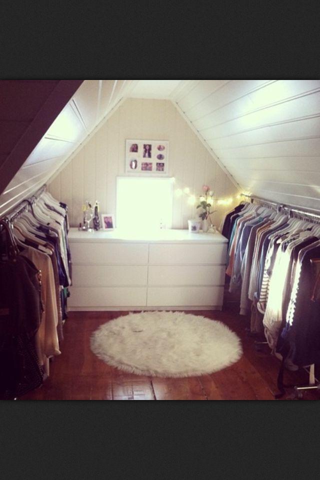 Dope attic closet!