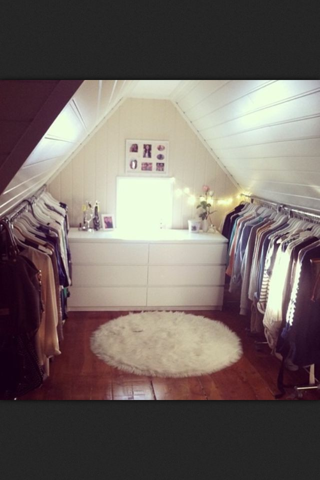 25 Best Ideas About Attic Closet On Pinterest Slanted