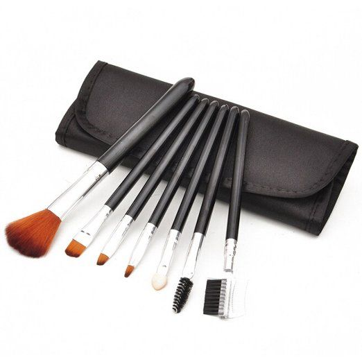 Amazon.com : Addfavor 7 PCS Makeup Brush Professional Cosmetics Brush Set Makeup Kit Foundation Flawless Blending Blush Beauty Make up Brushes Tools with Case, Black, Pink, Purple (Black) : Beauty