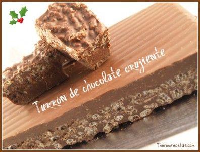 Turrón de chocolate crujiente.