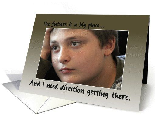 Directional Guidance Necessary, Youth Photo, Blank Inside card