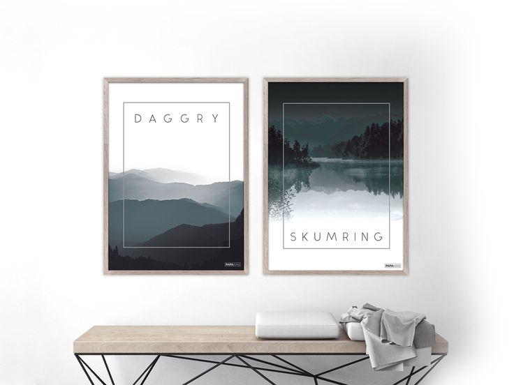 Plakat sæt: Daggry & Skumring! (Miljø)