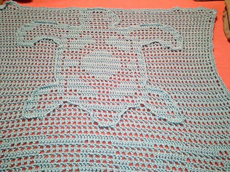 Sea Turtle Crochet Baby Blanket Crochet & Knit ...