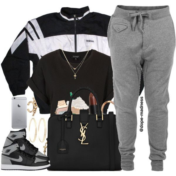 A fashion look from August 2015 featuring Topshop t-shirts, adidas jackets and Diesel activewear pants. Browse and shop related looks.