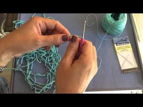How To Crochet Beginner Crystal Chain Necklace