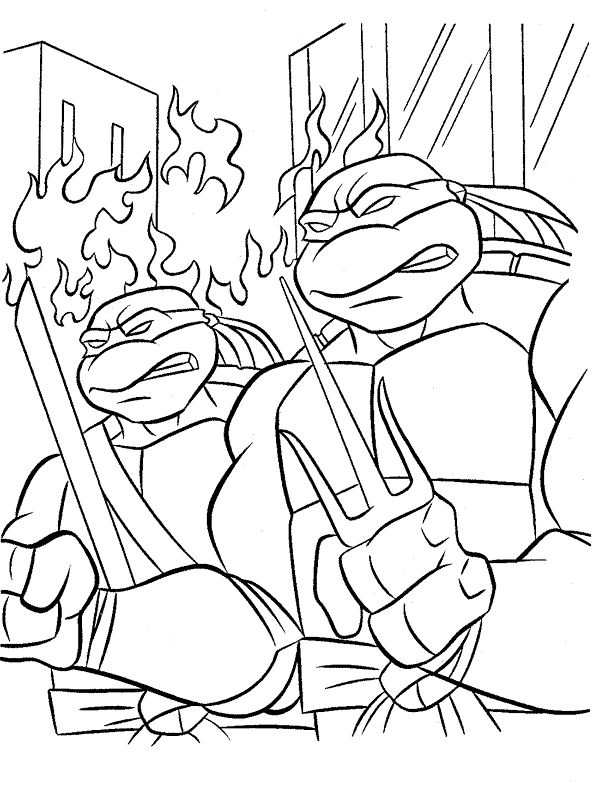 69 Best TMNT Coloring Pages Images On Pinterest