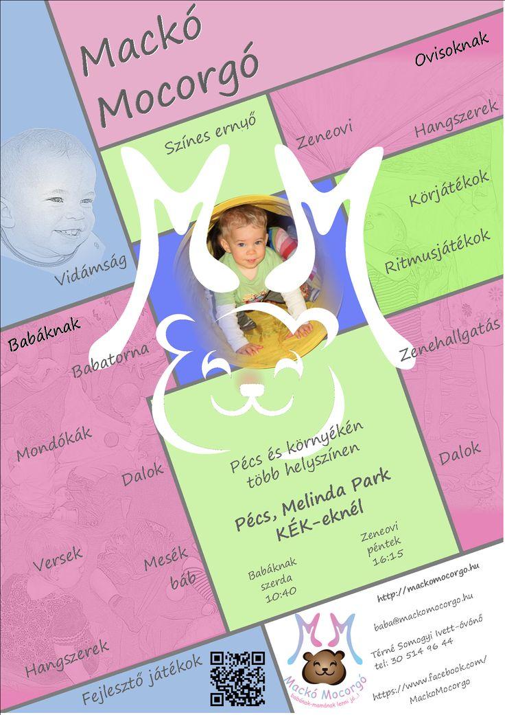 A pécsi Melinda parki játszóházba is várjuk a babákat, ovisokat.  Babafoglalkozás: szerdánként 10:40   Zeneovi: péntekenként 16:15 mackomocorgo.hu