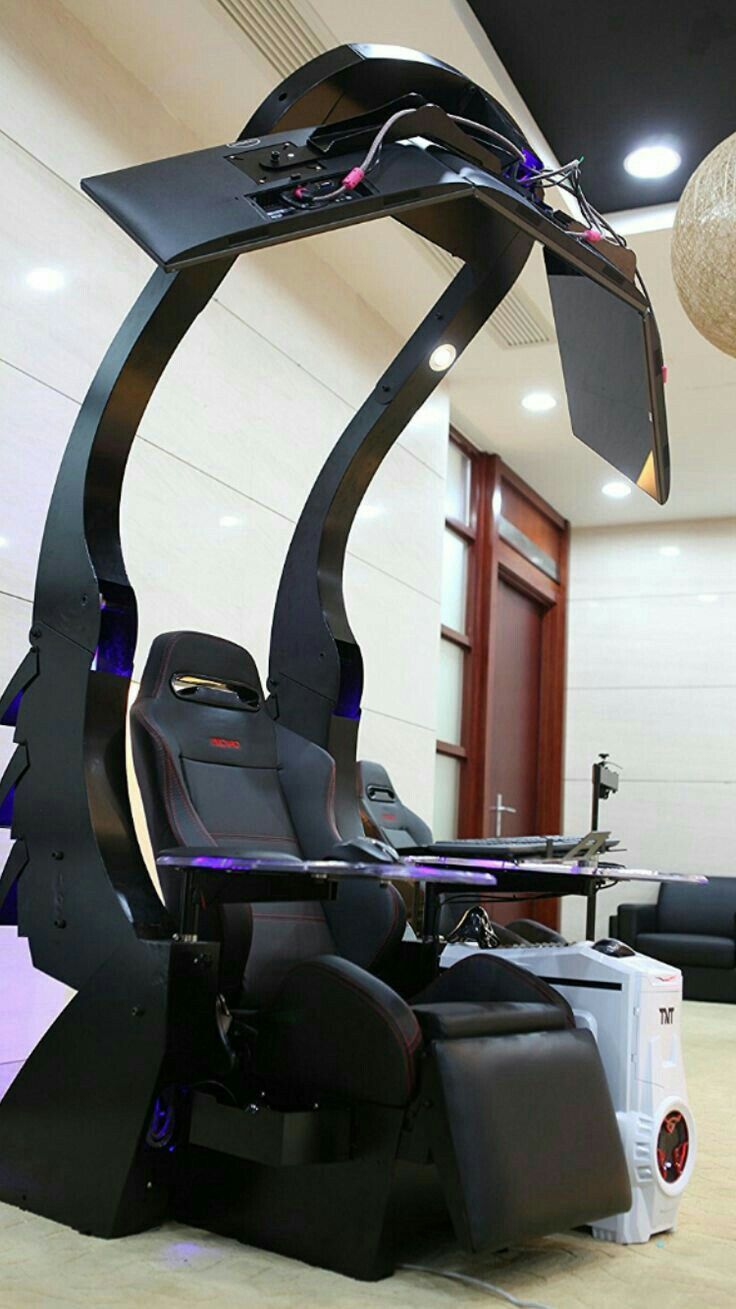 Chair Gym Setup Revolving Supplier Pin By Gpb On Pc Pinterest Gaming Desk And Video Game Rooms Computer Workstation Station