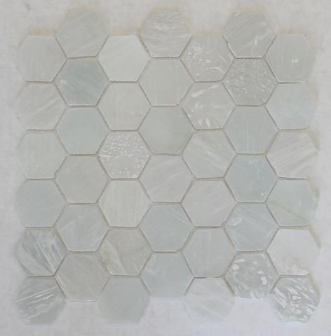 Introducing our newly added recycled hexagon glass mosaic tiles! These…