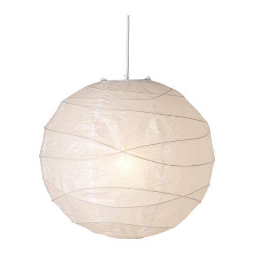 REGOLIT Pendant lamp shade $5.00 - we cut ours in half and put over obnoxious ceiling light. i have also seen decorated ones on ikea hacker