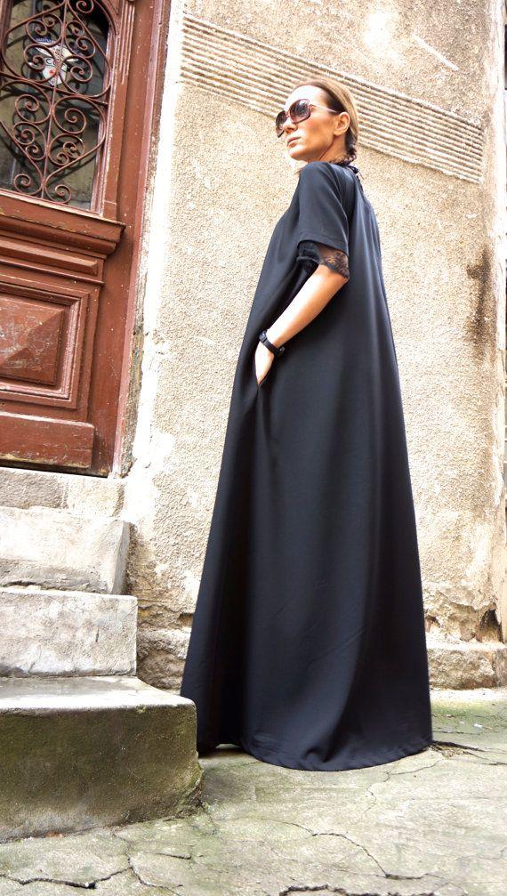 XXLXXXL Maxi Dress / Black Kaftan / Extravagant Long от Aakasha