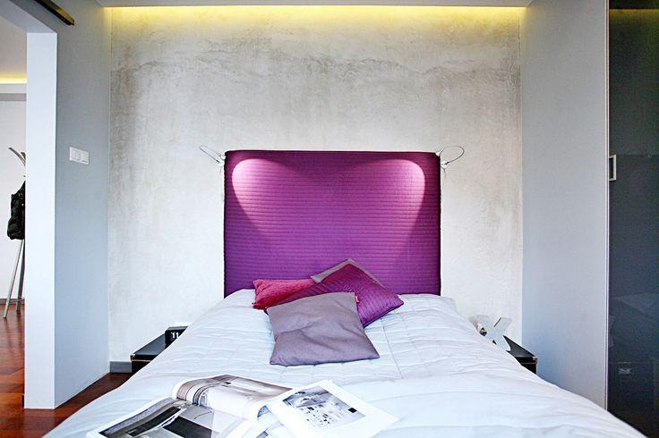 Beton w nowoczesnej sypialni