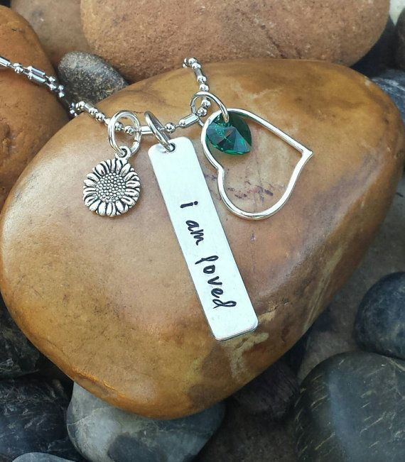 Depression Awareness Necklace - Depression Awareness Jewelry, Anxiety Necklace, I Am Loved Necklace, Mental Illness Awareness Jewelry