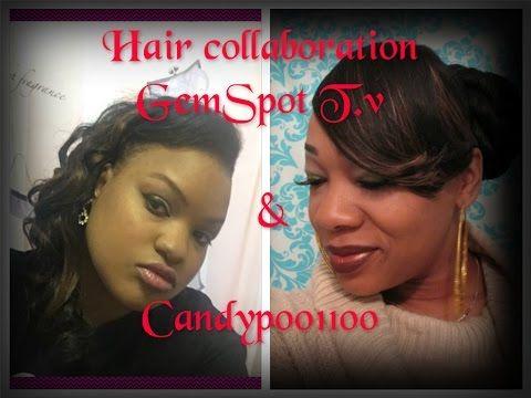 """Simple Side Bun w/Swoop Bang Updo w/GemSpot TV: Hair Collab"""