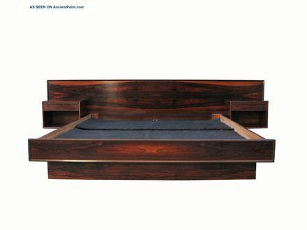 modern wood king platform bed frame