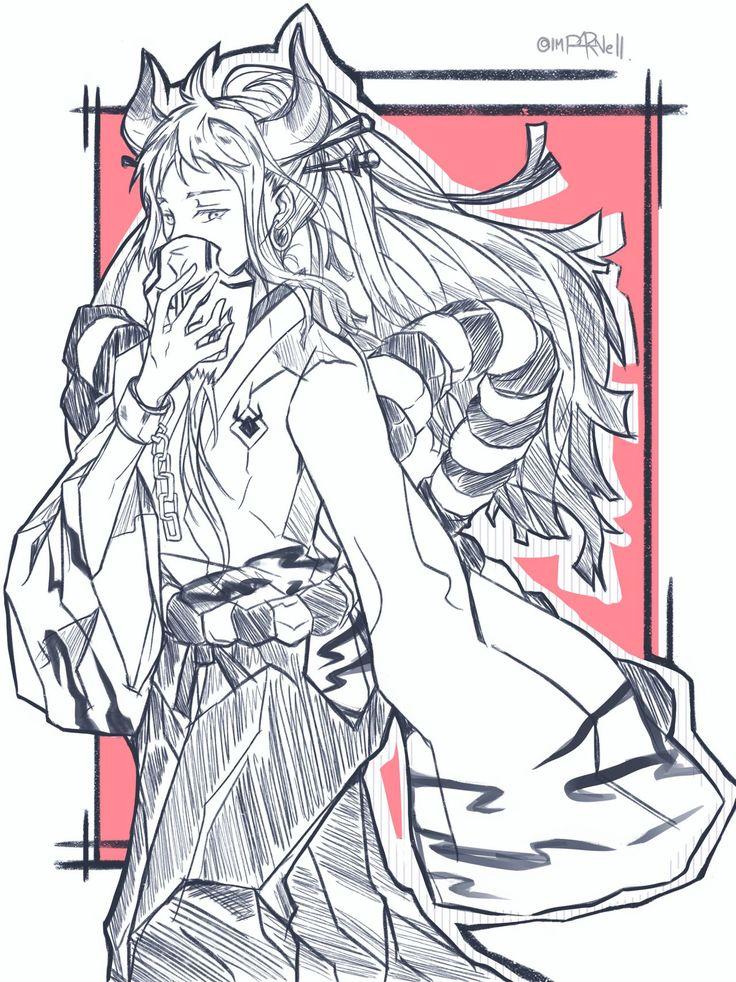 Yamato en 2020 Manga, Dessin, One piece